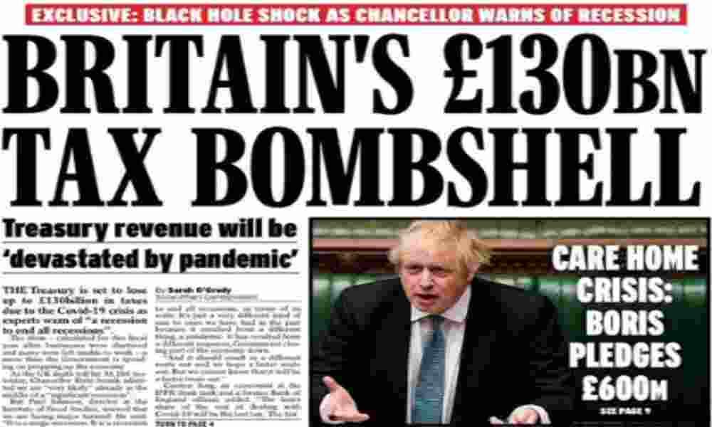 """Η Βρετανικη """" μαυρη τρυπα """" του κορονοϊου υψους £130 δις"""
