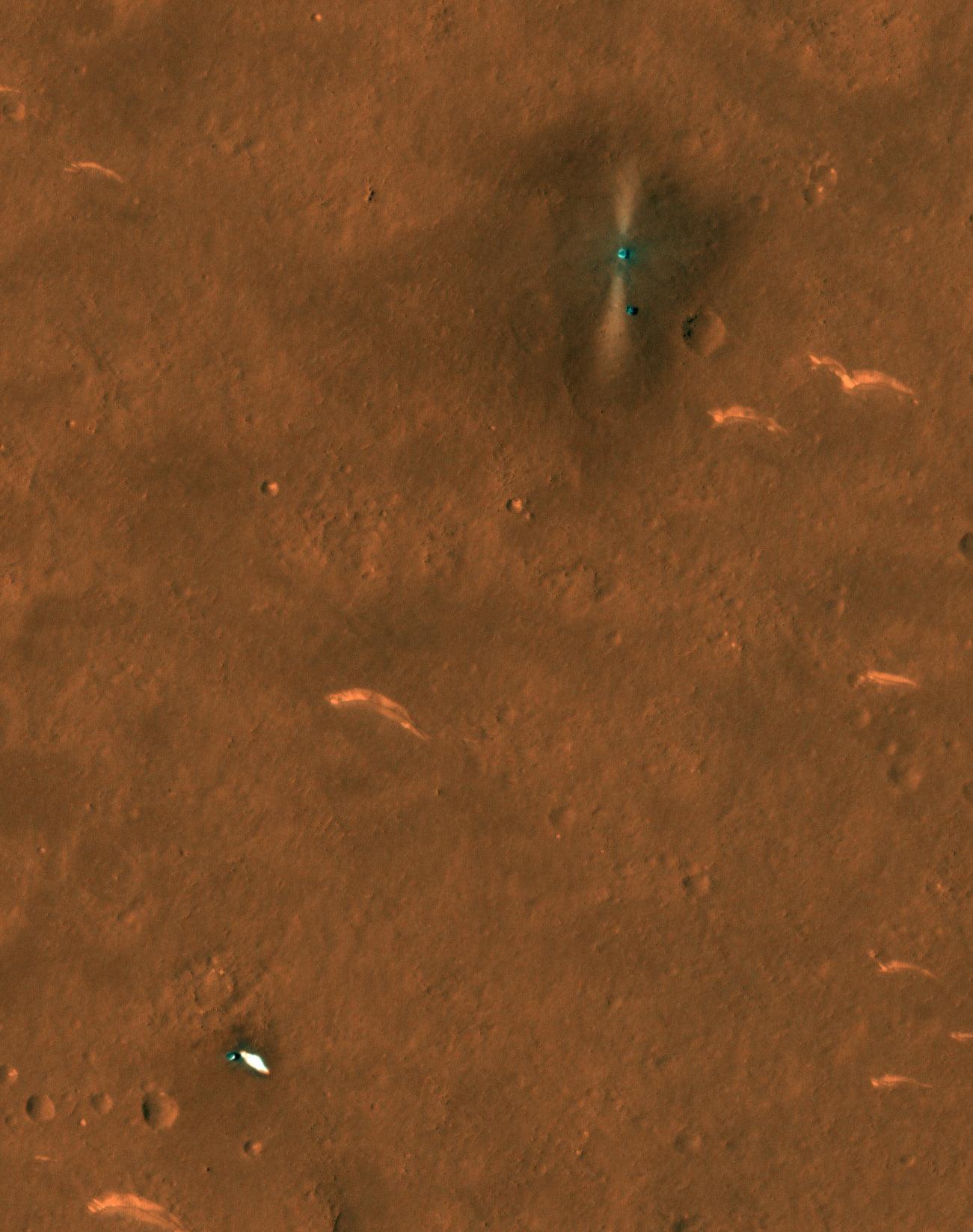 """Tο Mars Reconnaissance Orbiter φωτογραφιζει το """" Ζου-Ρογκ """" στο εδαφος"""